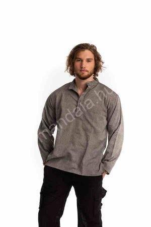 lenvászon-férfi-ing-szürke