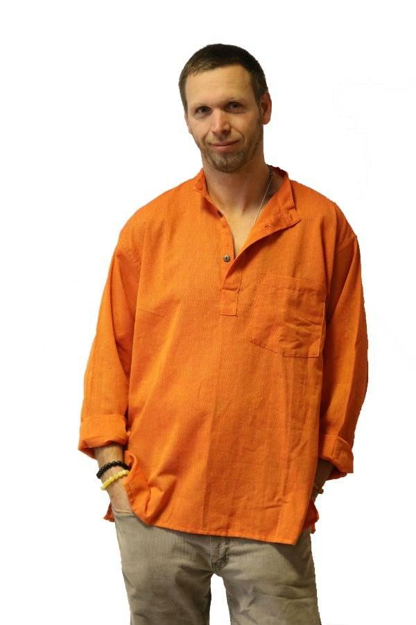 Lenvászon ing narancs - Mandala.hu - Nagykereskedelem és webáruház 5fecbab1ae