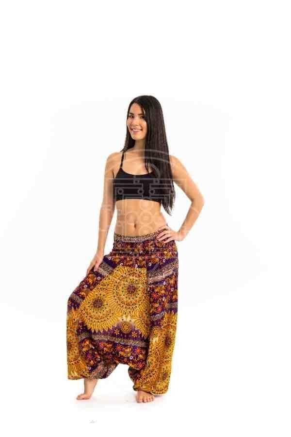 7a49c2d6b6 Hárem bő Aladdin nadrág sárgás - Mandala.hu - Nagykereskedelem és ...