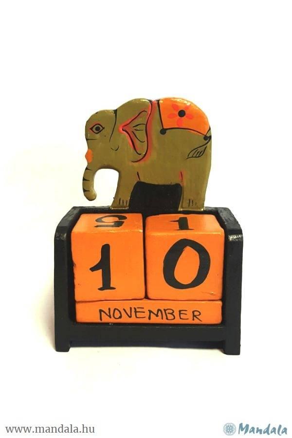Fa öröknaptár elefánt