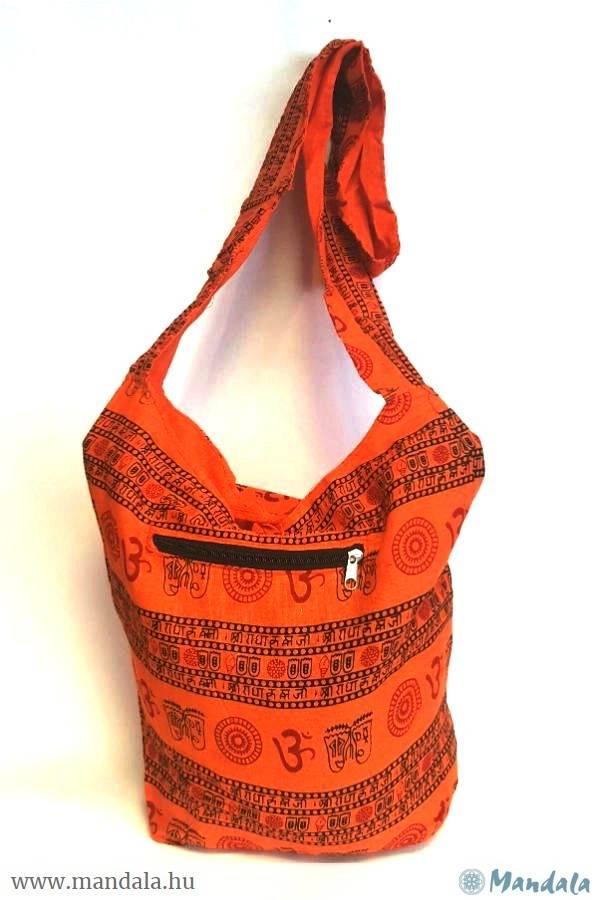 Indiai táska Om narancs
