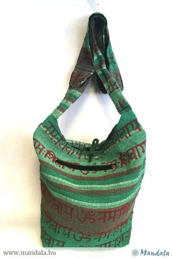 Indiai táska OM zöld