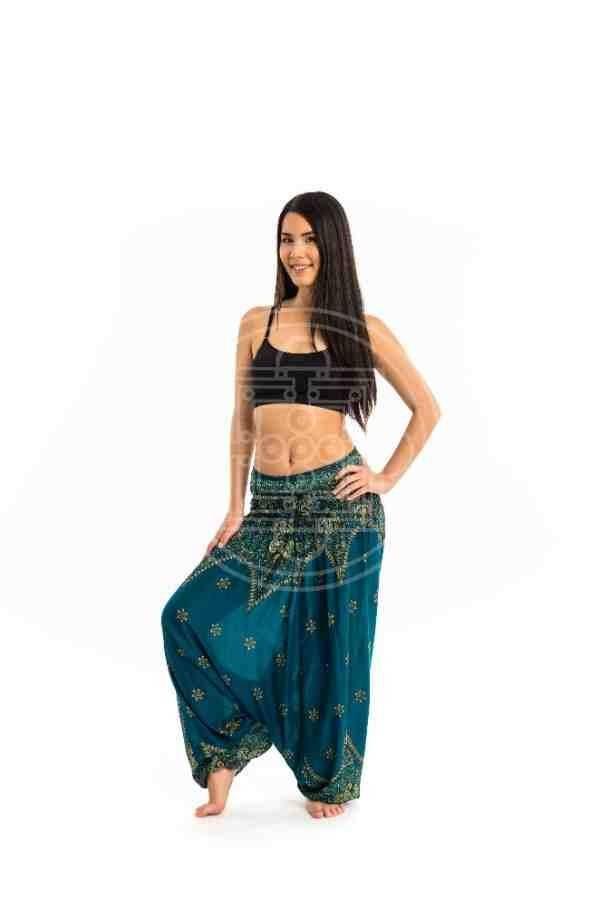 d273fce153 Női Aladdin nadrág kék virágos - Mandala.hu - Nagykereskedelem és webáruház