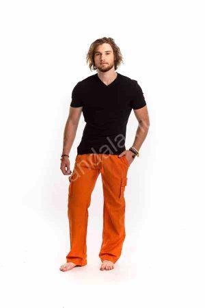 férfi-nadrág-lenvászon-narancs