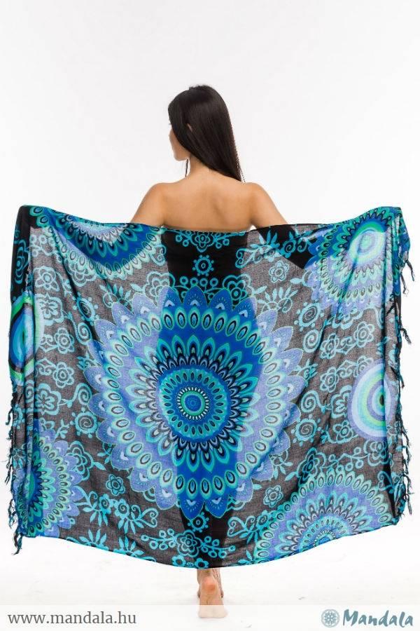 Indonéz szarong kör kék - Mandala.hu - Nagykereskedelem és webáruház d7fce3f695