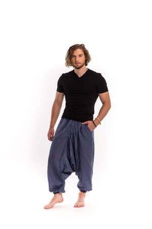 férfi-nadrág-jóga-kék