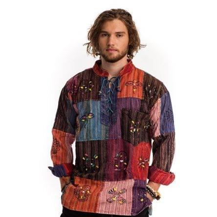 Indiai színes kockás ing