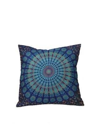 Díszpárna-mandala-kék