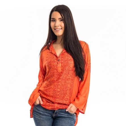 Indiai ing szimbólumokkal narancs