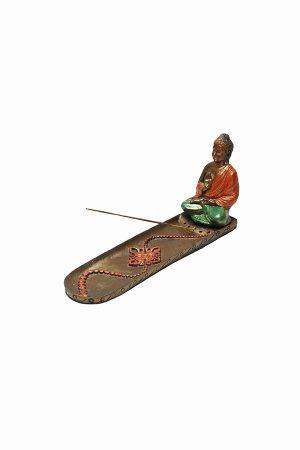Füstölőtartó-buddha-narancs