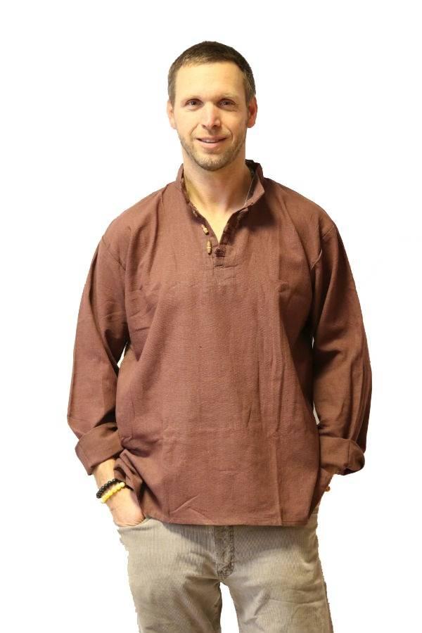 Lenvászon ing barna - Mandala.hu - Nagykereskedelem és webáruház 3696feaeee