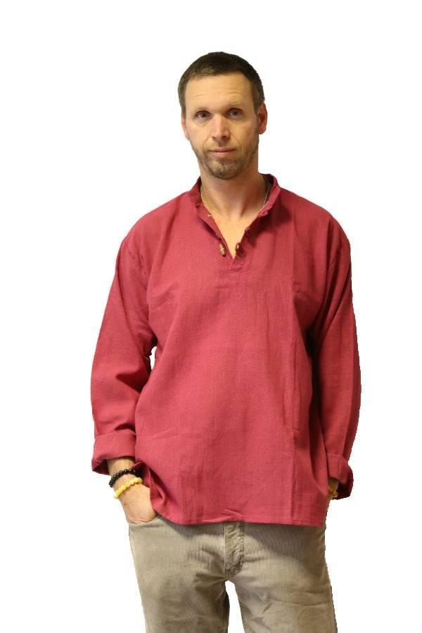 Lenvászon ing bordó - Mandala.hu - Nagykereskedelem és webáruház 7ab4fa3f6d