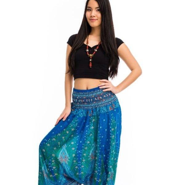 Aladdin nadrág páva bordó