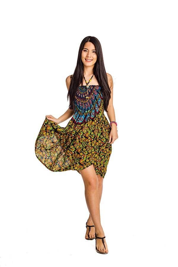 5da84e94ad Indonéz rövid ruha sárgás - Mandala.hu - Nagykereskedelem és webáruház