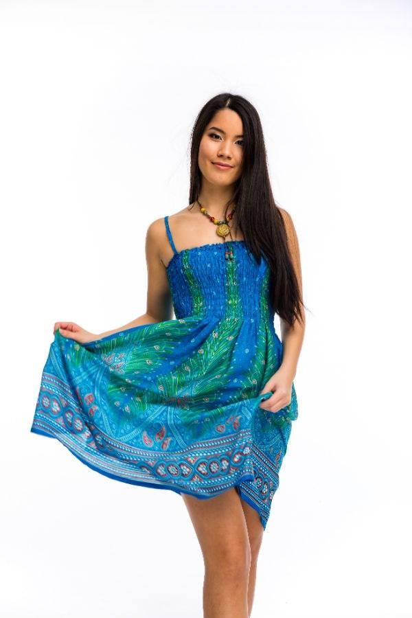 a365278693 Gumírozott rövid ruha világos kék - Mandala.hu - Nagykereskedelem és ...