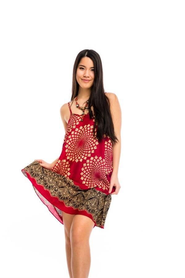 993c948d61 Pántos rövid ruha piros kör - Mandala.hu - Nagykereskedelem és webáruház