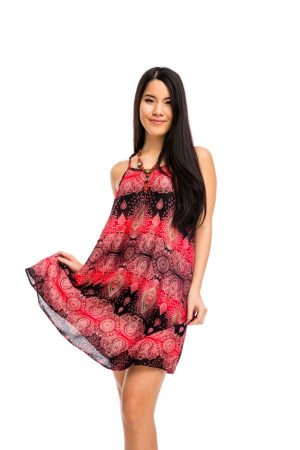 bfbcbba621 Pántos rövid ruha piros - Mandala.hu - Nagykereskedelem és webáruház