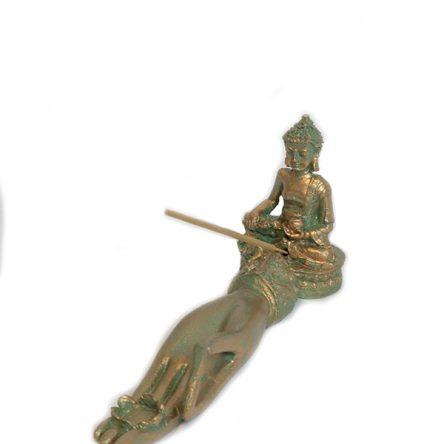 Buddha kézen füstölőtartó